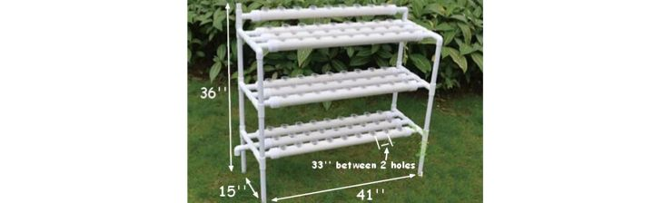 Hydroponic Site Grow Kit 90 Site Ebb and Flow Deep Water Culture Garden System with Nest Basket, Water Pump and Sponge